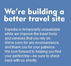 Expedia travel website goes offline