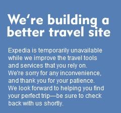 Expedia travel website goes offline