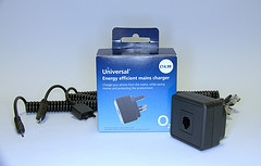 O2's energy efficient universal charger for mobile phones
