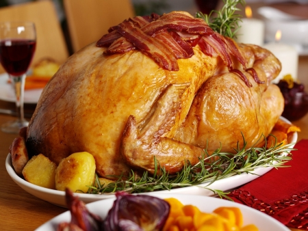 A turkey dinner yesterday
