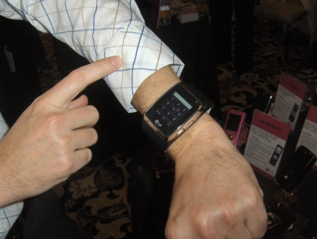 LG quadband GSM wrist watch mobile phone