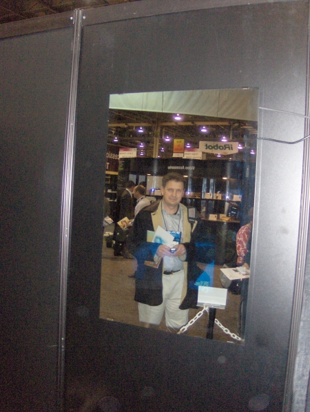 MaxxSonics USA MB Quart Hidden Reflections Vanishing Television Mirror CES 2009