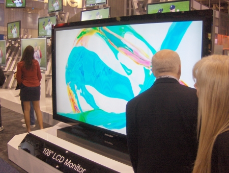 Sharp 108-inch LCD TV television CES 2009