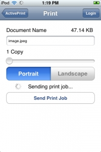 ActivePrint Print iPhone iPod Touch Pocket Watch Software
