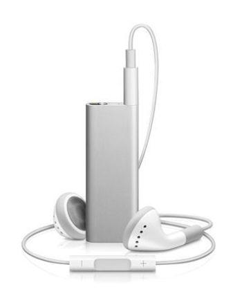 New ipod shuffle smaller AA battery talks VoiceOver playlists