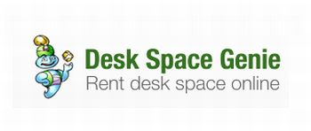 logo Desk Space Genie broadband internet credit crunch office space security