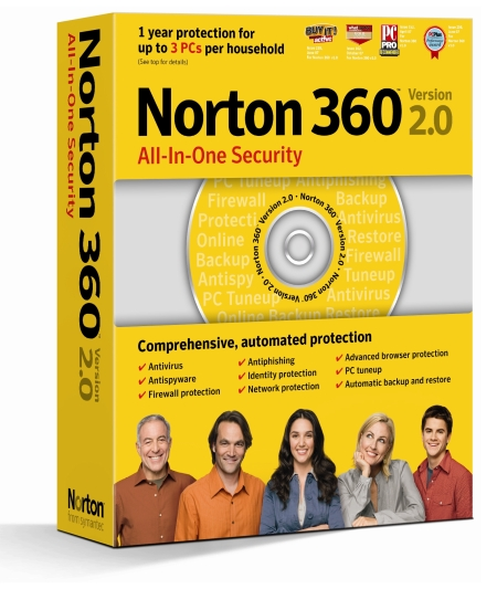 Symantec Norton 360 all-in-one security version 2.0