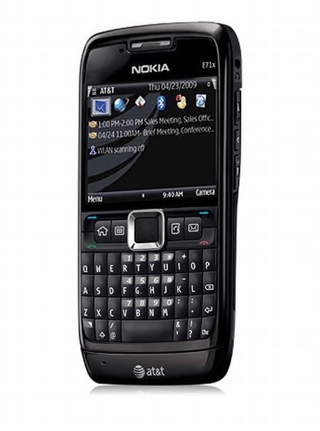 Nokia E71x AT&T QWERTY smartphone CTIA Wireless 2009 Las Vegas