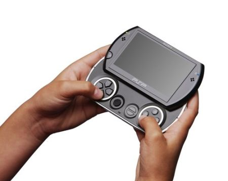 The new Sony PSP Go has a 3.8-inch screen, is 43 per cent lighter than the PSP-3000 and has 16GB Flash memory plus Bluetooth connectivity